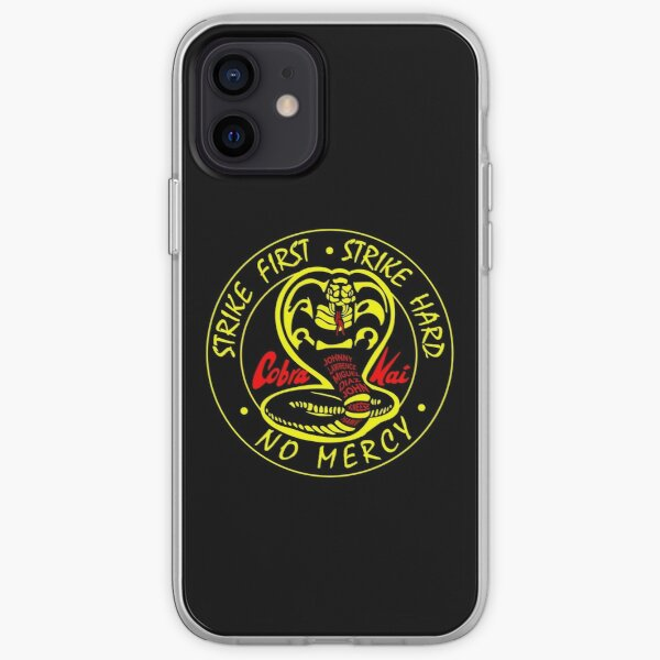 Cobra kai - strike first . strike hard . no mercy iPhone Soft Case RB1006 product Offical Karl Jacobs Merch