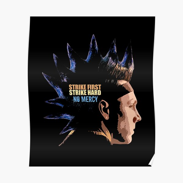Cobra Kai - The Hawk Strike first strike hard no mercy Poster RB1006 product Offical Karl Jacobs Merch