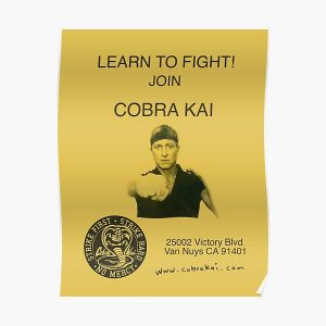 Learn to Fight! Join Cobra Kai Poster Poster RB1006 product Offical Karl Jacobs Merch