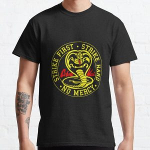 Cobra kai strike first dojo king cobra bonsai from 80s movies action never die T-shirt Classic T-Shirt RB1006 product Offical Karl Jacobs Merch