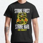 Cobra Kai Strike First Strike Hard No Mercy Vintage Classic T-Shirt RB1006 product Offical Karl Jacobs Merch