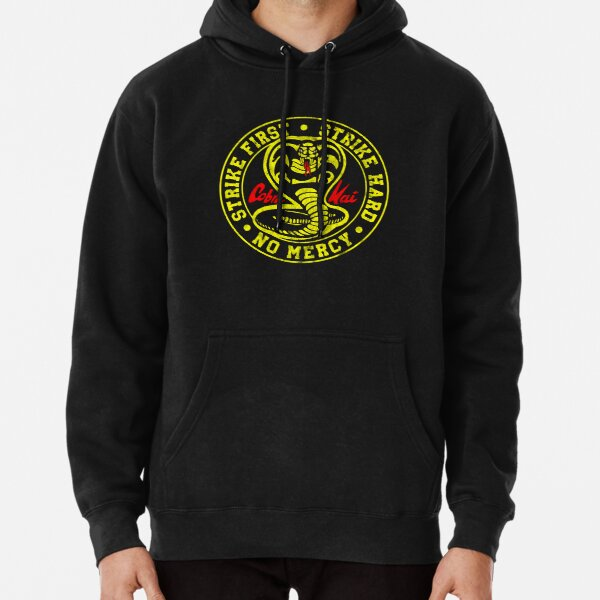Strike First Strike Hard No Mercy Cobra Kai Pullover Hoodie RB1006 product Offical Karl Jacobs Merch