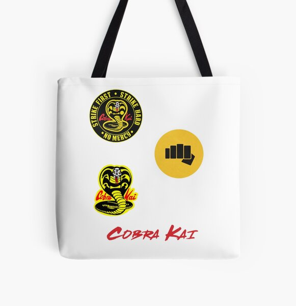 Cobra Kai sticker Pack All Over Print Tote Bag RB1006 product Offical Karl Jacobs Merch
