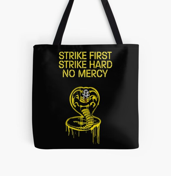 cobra kai logo strike first All Over Print Tote Bag RB1006 product Offical Karl Jacobs Merch
