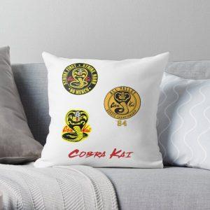 Cobra Kai sticker Pack Throw Pillow RB1006 product Offical Karl Jacobs Merch