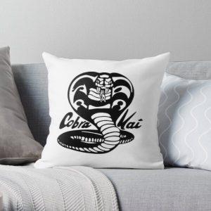 cobra kai black and white Throw Pillow RB1006 product Offical Karl Jacobs Merch