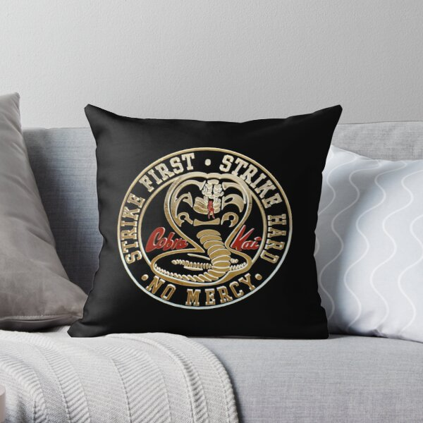 Cobra Kai Cobra Throw Pillow RB1006 product Offical Karl Jacobs Merch