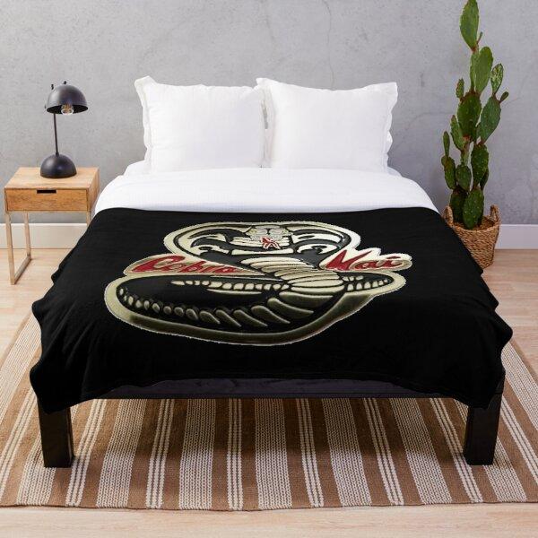 Cobra Kai Never Dies Golden Snake Logo Graphic Throw Blanket RB1006 product Offical Karl Jacobs Merch