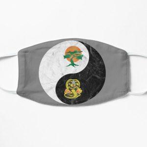 Miyagi-Do, Cobra Kai Yin-Yang design Flat Mask RB1006 product Offical Karl Jacobs Merch