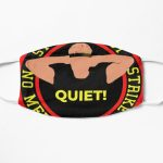 Cobra Kai - Quiet by Sensei johnny lawrence Flat Mask RB1006 product Offical Karl Jacobs Merch